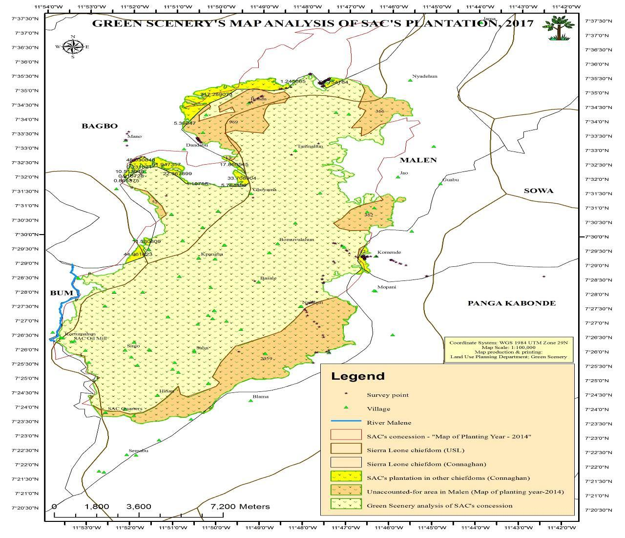 Spatial Monitoring Report on SOCFIN in Malen Chiefdom
